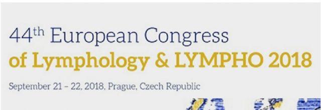 44. Európsky lymfologický kongres, Praha, September 2018